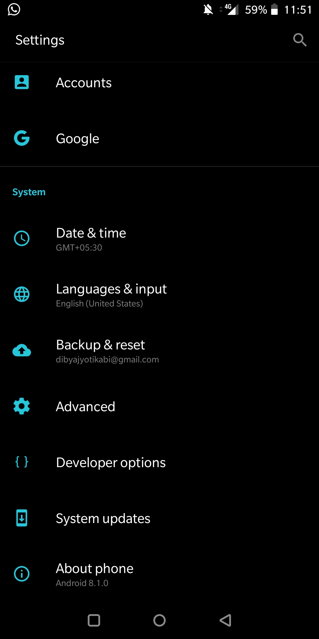 Manually Check System Software Update On OnePlus 6T