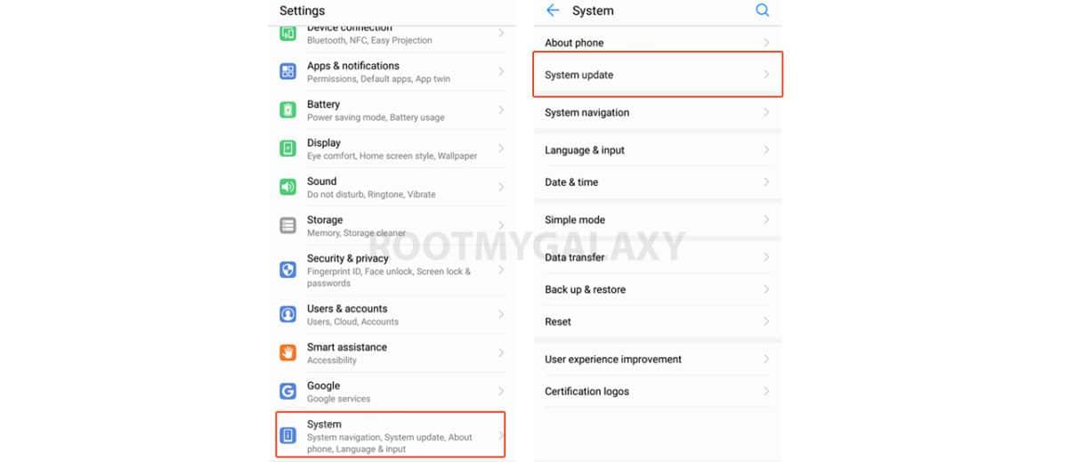 Check OTA Software Update On Huawei Mate 20 Pro