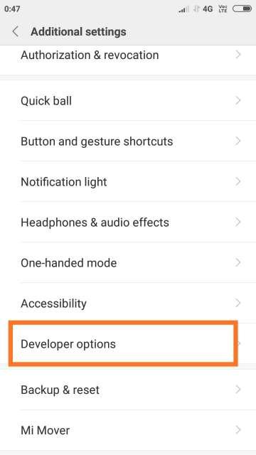 Xiaomi_Developer_Menu
