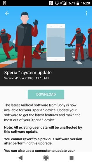 Download 41.3.A.2.192 October 2018 Security For Xperia XZ and XZs