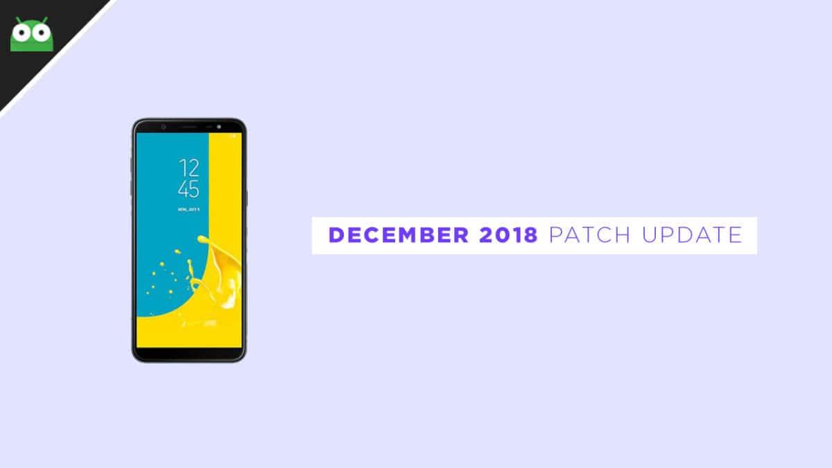 J810GDDU2ARK4: Download Galaxy J8 December 2018 Security Patch Update