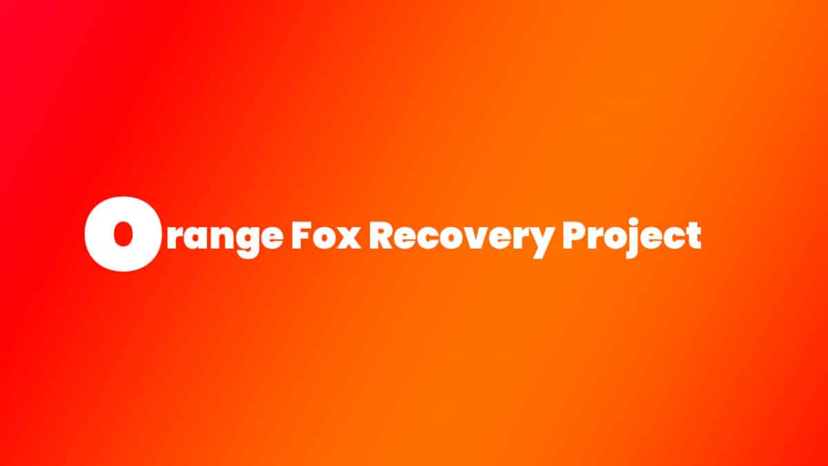 Install Treble Orange Fox Recovery Project on Redmi 5A