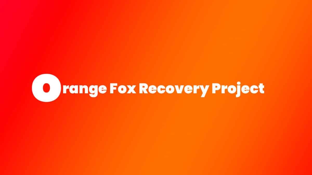Install Treble Orange Fox Recovery Project on Redmi 5 Plus