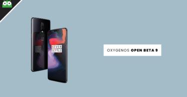 OxygenOs Open Beta 9 OTA for OnePlus 6