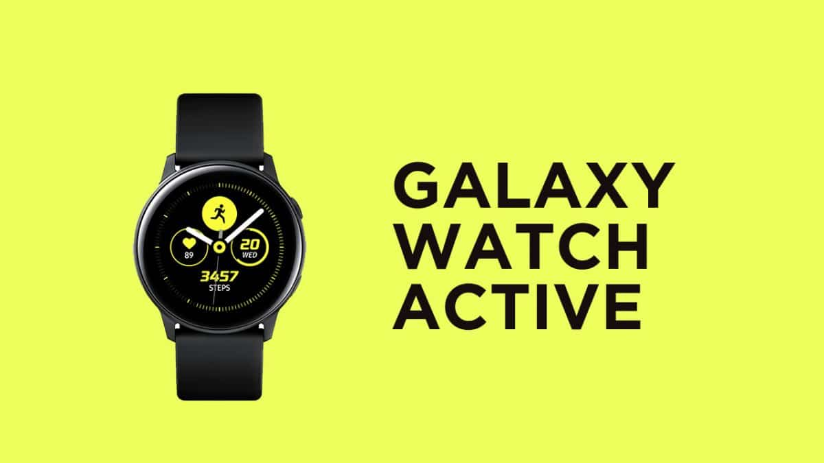 Samsung Galaxy Watch Active with rounded AMOLED screen launched in India