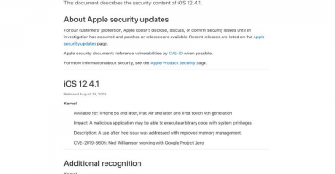 iOS 12.4.1 security update released by Apple
