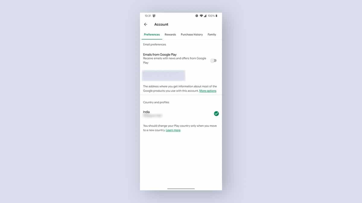 Guide: change Country in Google Play Store
