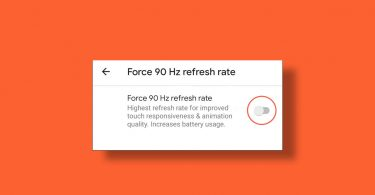 Force Enable 90Hz refresh rate on Google Pixel 4 and Pixel 4 XL