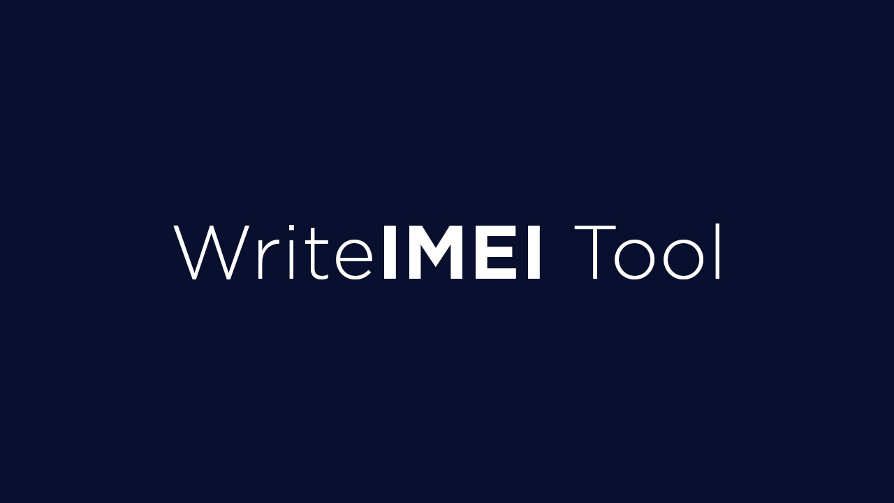 Download WriteIMEI Tool (All Versions)