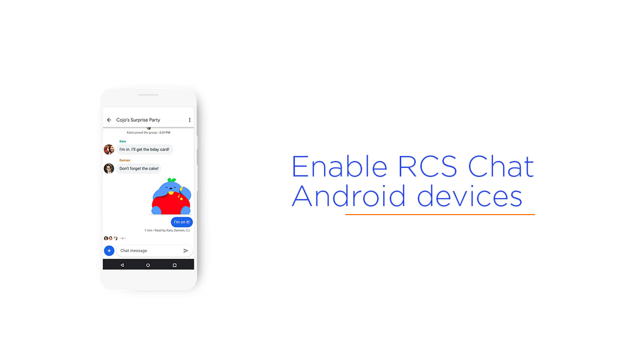 enable RCS Chat on Android devices