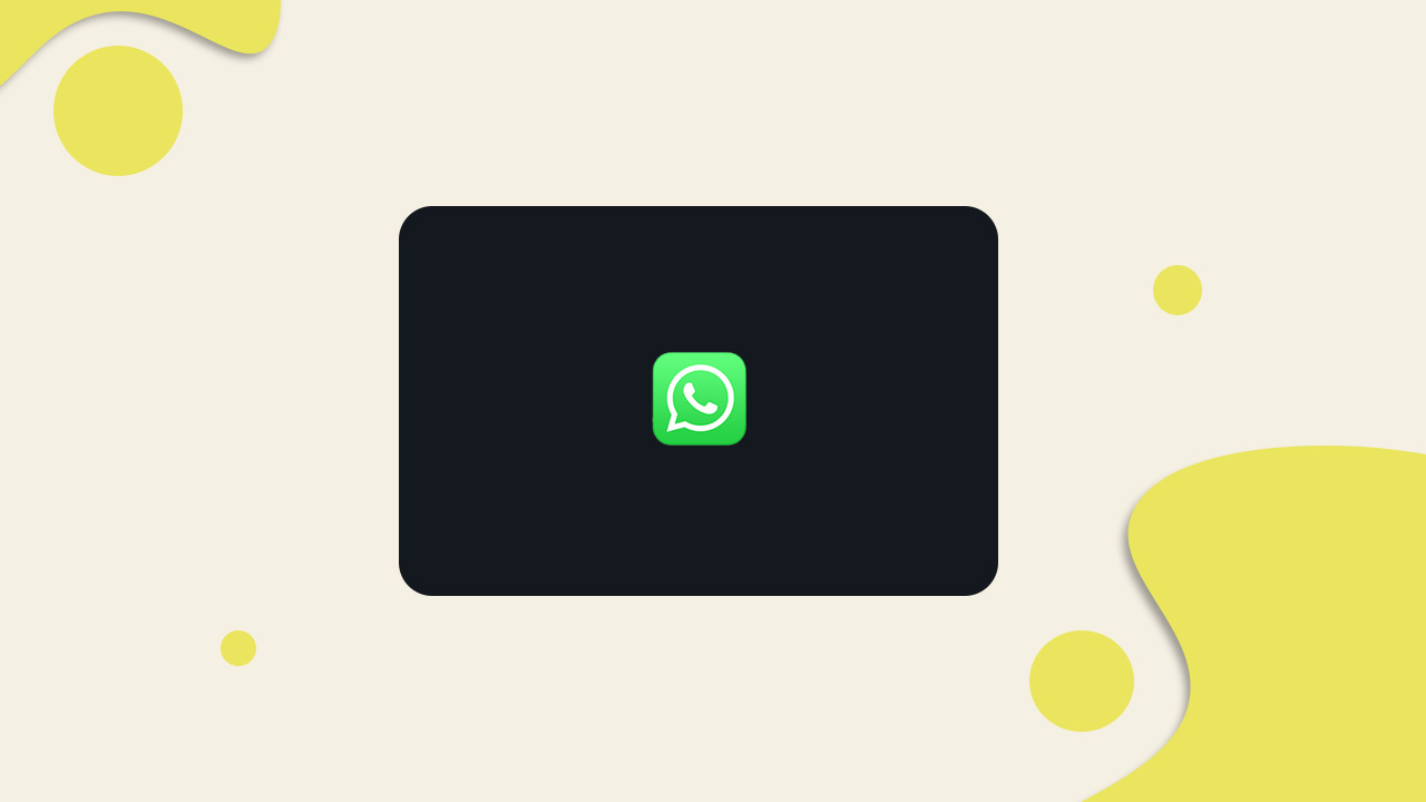 Get Dark Theme on WhatsApp Web
