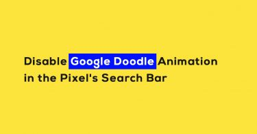 Disable Google Doodle Animation in the Pixel's Search Bar