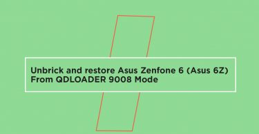 unbrick and restore Asus Zenfone 6 (Asus 6Z) From QDLOADER 9008 Mode