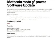 PDOS29.114-134-7: Download Verizon Moto G7 Power December 2019 Patch
