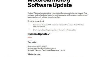 PDSS29.118-15-11-5: Download Verizon Moto G6 December 2019 Patch