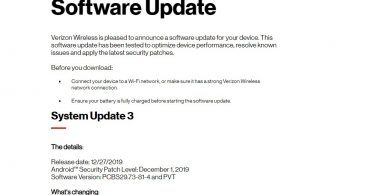 Verizon Moto E6 Gets December 2019 Patch Update