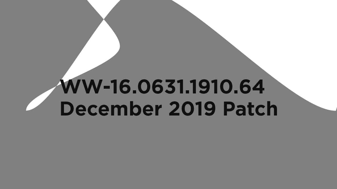 WW-16.0631.1910.64: Download Asus Rog Phone 2 December 2019 Patch