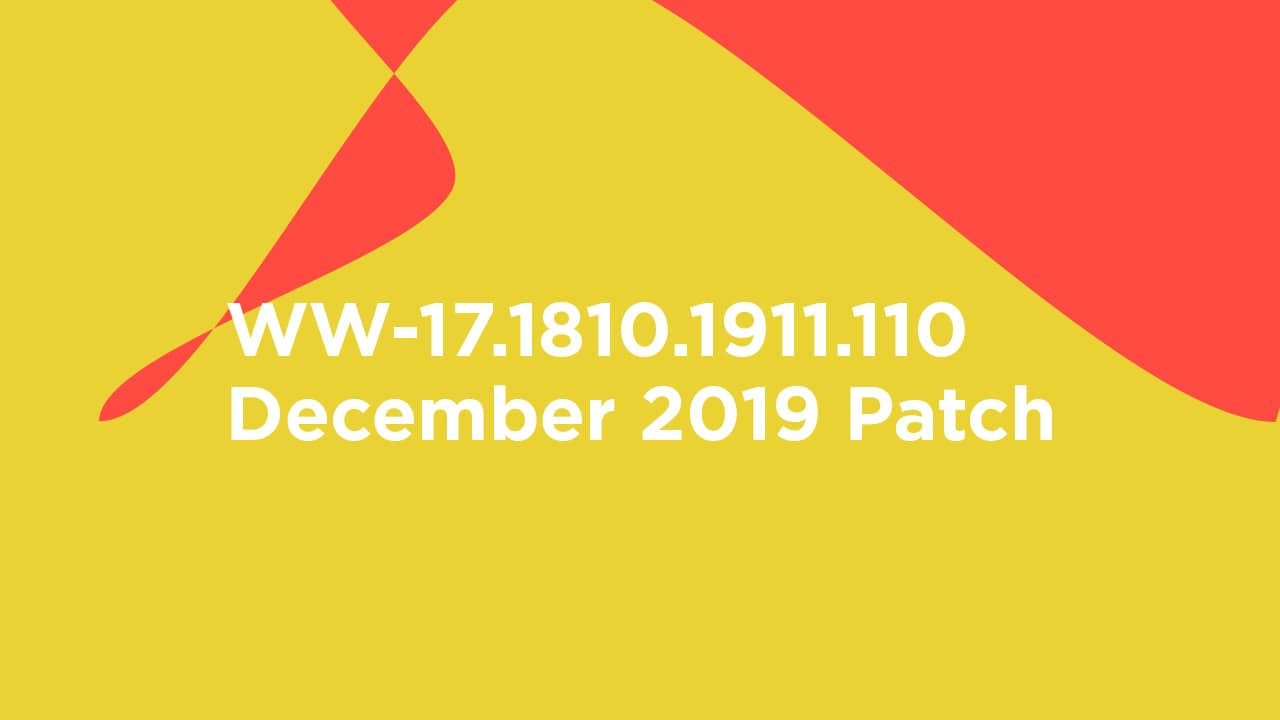 WW-17.1810.1911.110: Download Asus Zenfone 6 (Asus 6Z) December 2019 Patch