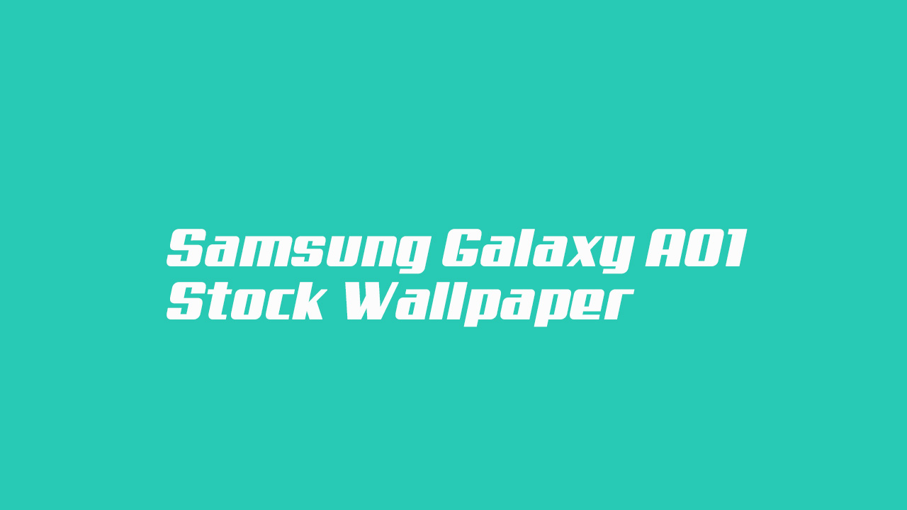 Samsung Galaxy A01 Stock Wallpaper