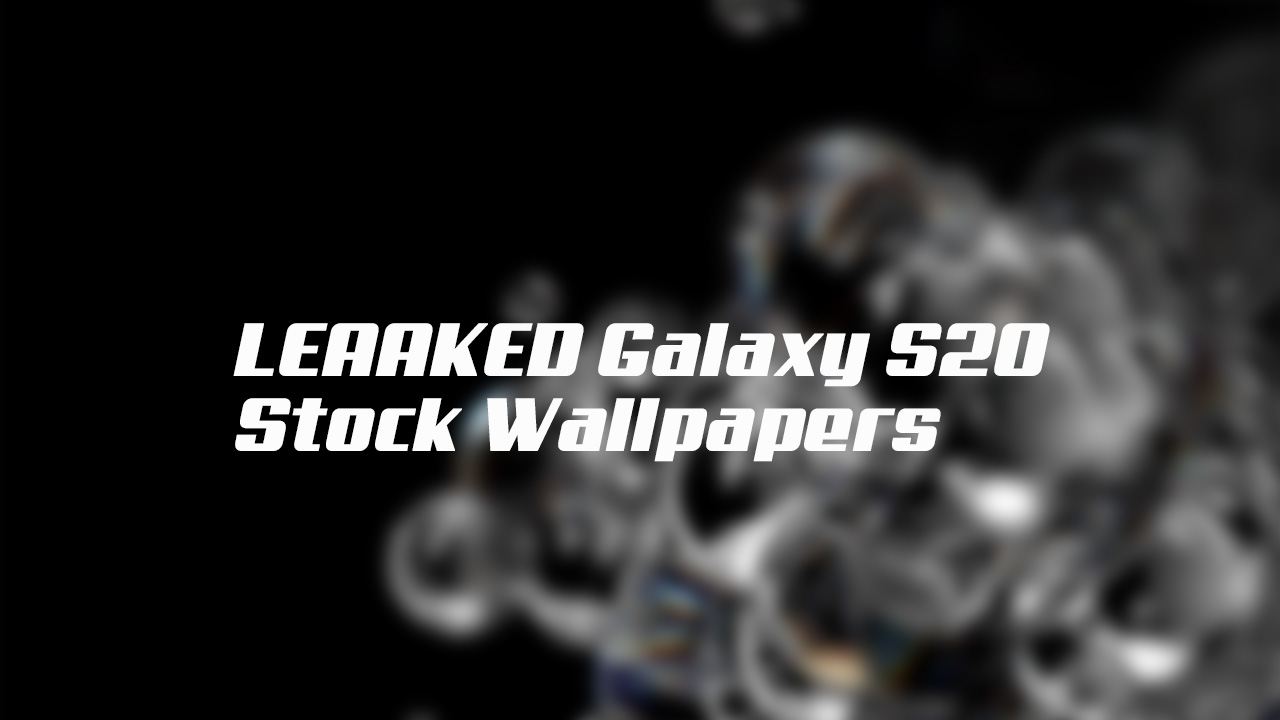 Download Samsung Galaxy S20 Stock Wallpapers (QHD+)