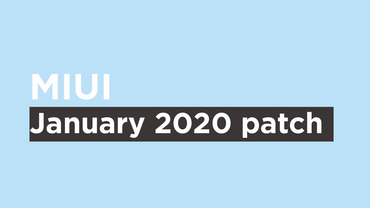 Mi A3 January 2020 Security patch {V10.3.13.0.PFQMIXM}