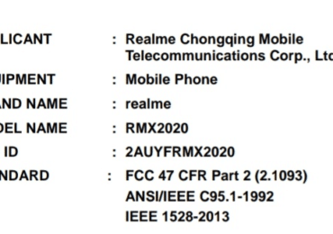 Realme C3 (RMX2020) is likely to launch soon, listed on FCC