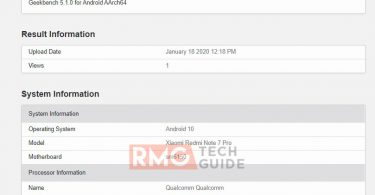 Redmi Note 7 Pro running Android 10 appears on Geekbench