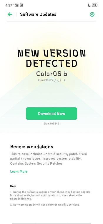 Realme X RMX1901EX_11_A.11 December 2019 Security Patch