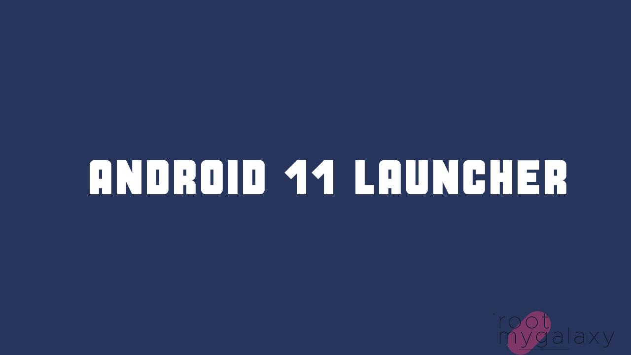 Android 11 R Google Pixel Launcher App
