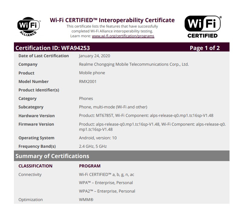 Realme 6 and 6 Pro spotted on Wi-Fi Certification: Check Details