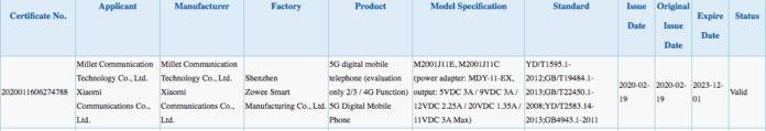 Redmi K30 Pro Series Devices appears on 3C Certification