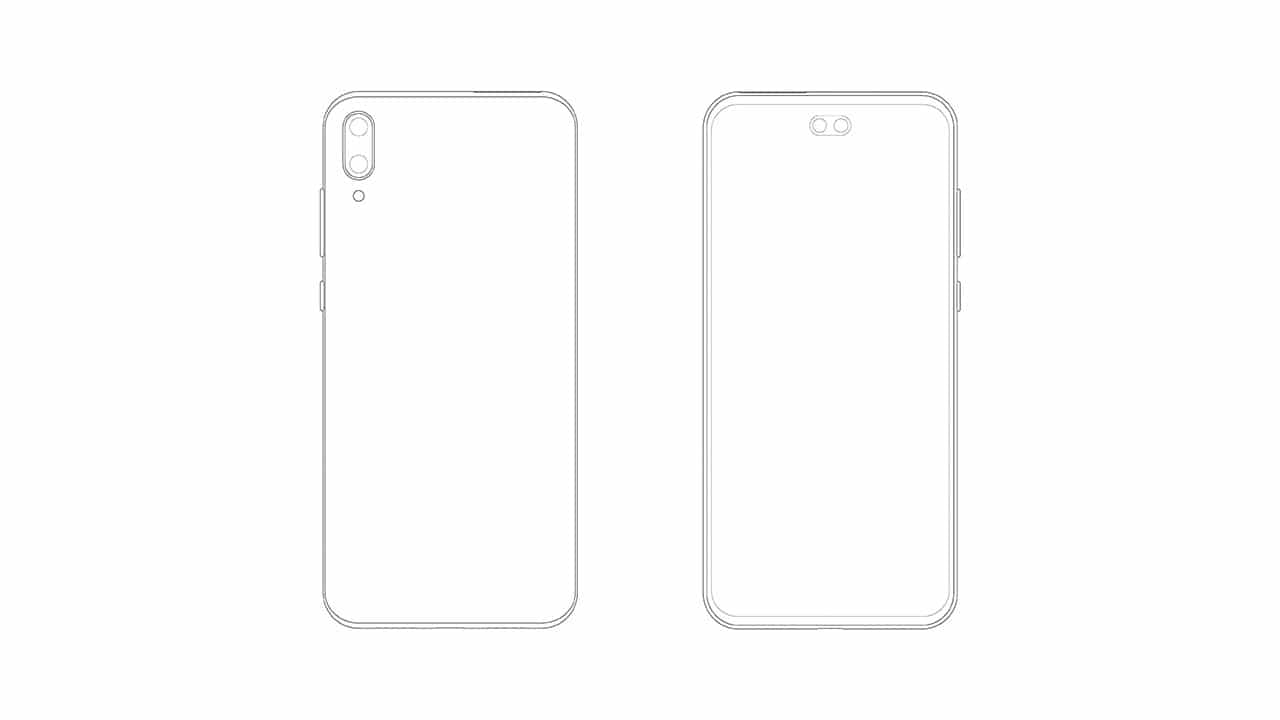 Samsung files design patent for smartphones having dual Punch-hole front camera cut out