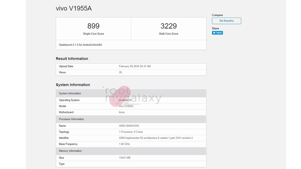 iQOO 3 Spotted on Geekbench again, this time with 12GB RAM