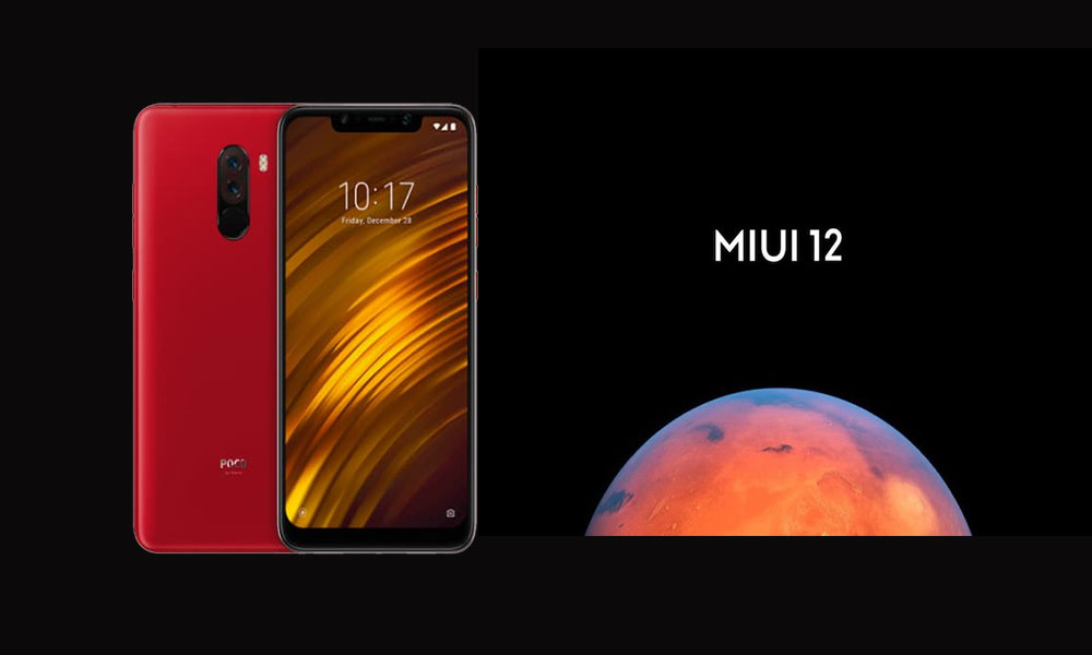 Download and install MIUI 12 ROM On Xiaomi Poco F1 (Update)