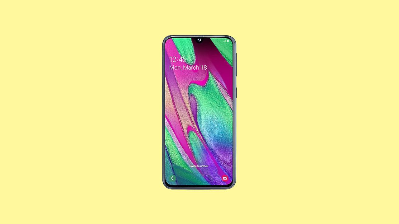 Install Galaxy A40 A405FNXXU3BTC4 Firmware Update