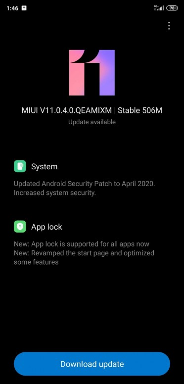 Xiaomi Mi 8  V11.0.4.0.QEAMIXM Android 10 Update (MIUI 11)