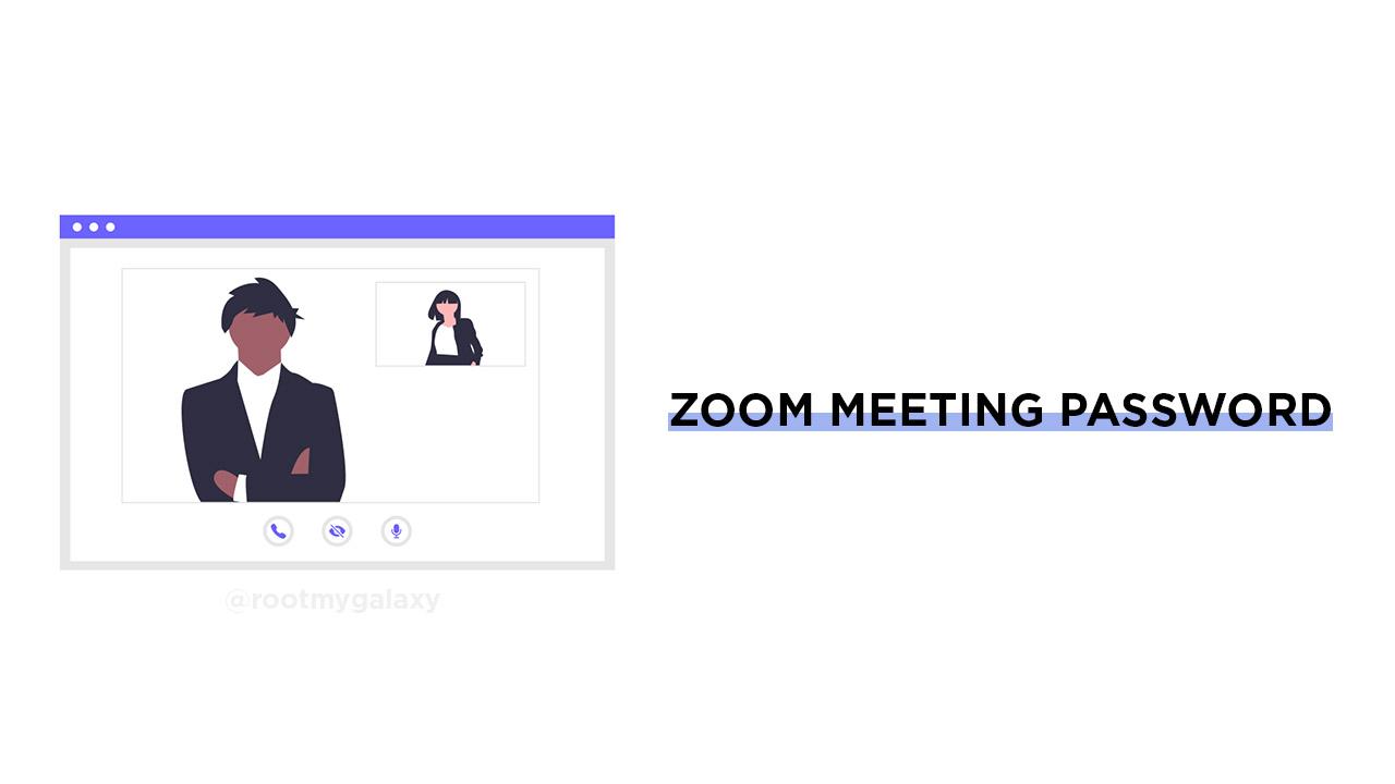 Find your Zoom meeting password