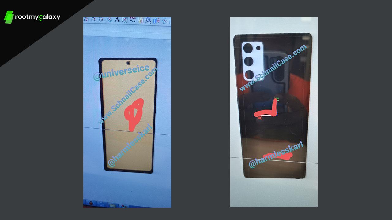 Alleged Samsung Galaxy Note 20 Design Leaked