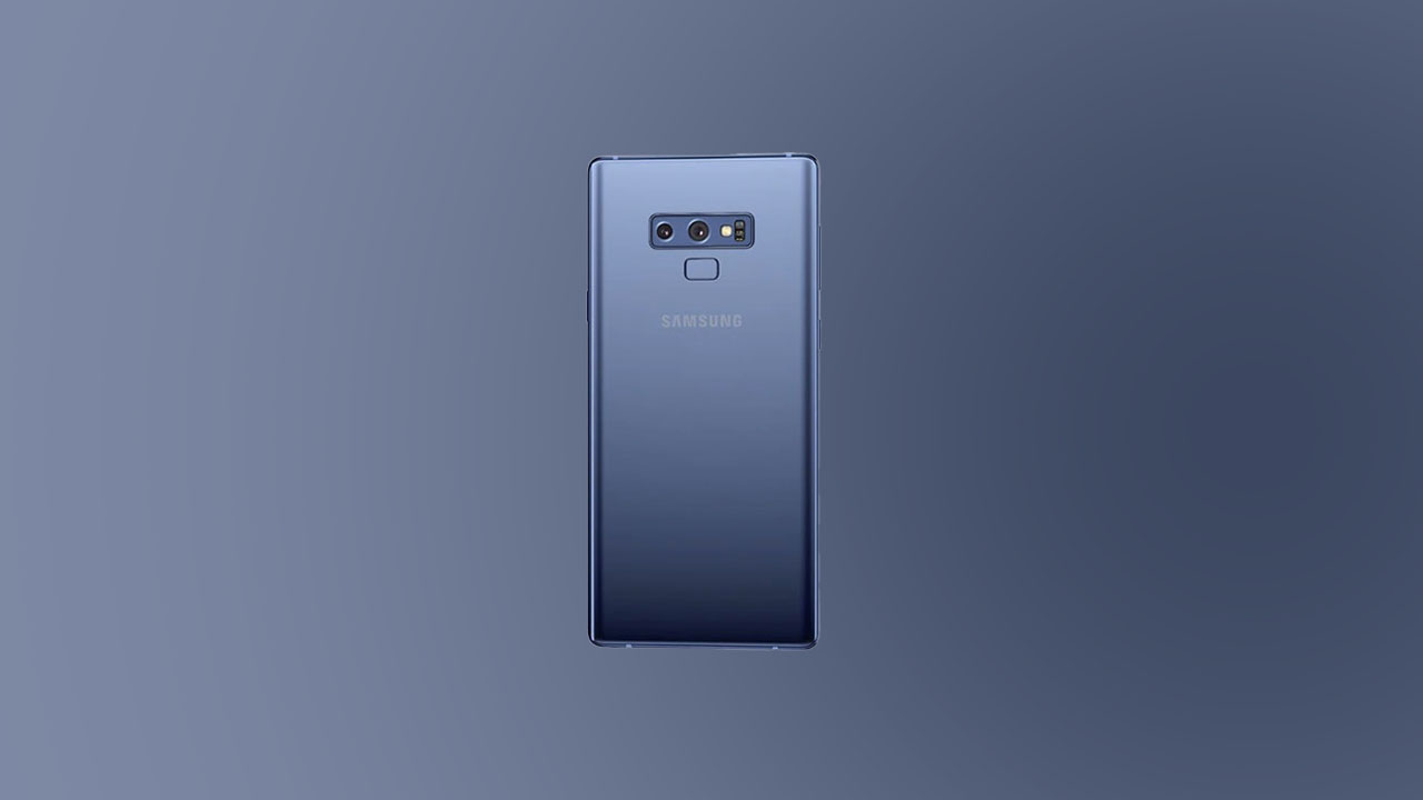 Galaxy Note 9 Software update tracker