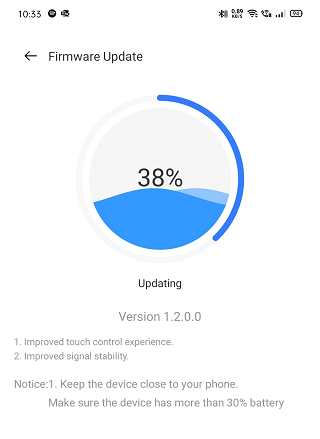Realme Buds Air has improved touch control and signal stability with the new V1.2.0.0 update