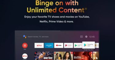 Realme TV will come with Amazon Prime video, Netflix and more -Flipkart Page