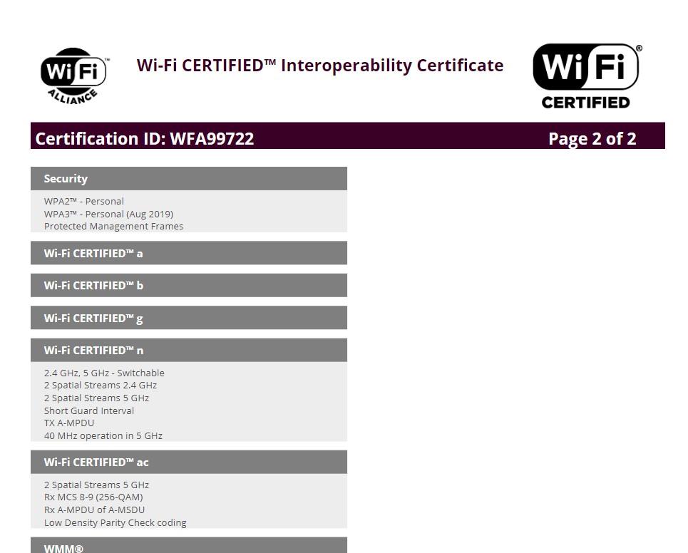 Samsung Galaxy Tab S7+ 5G (SM-T976B) listed on WIFI certification