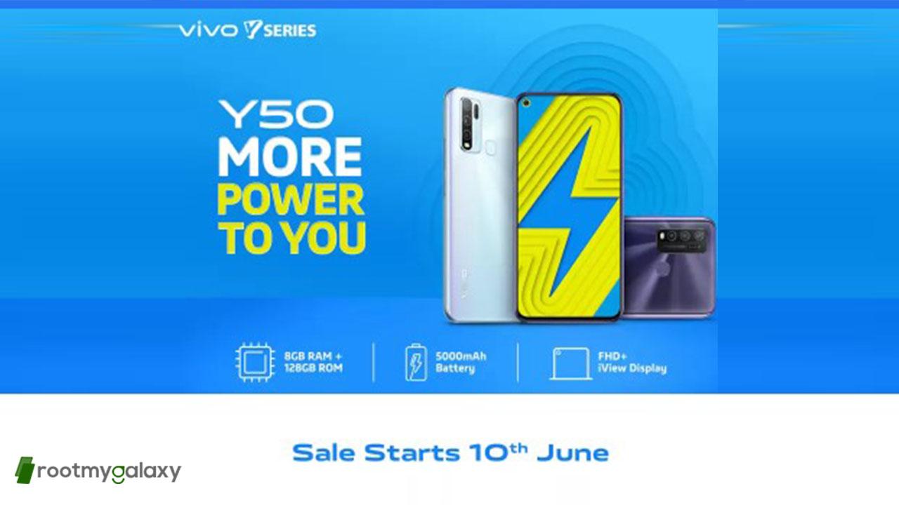 Vivo Y50 goes on sale in India on June 10 via Flipkart