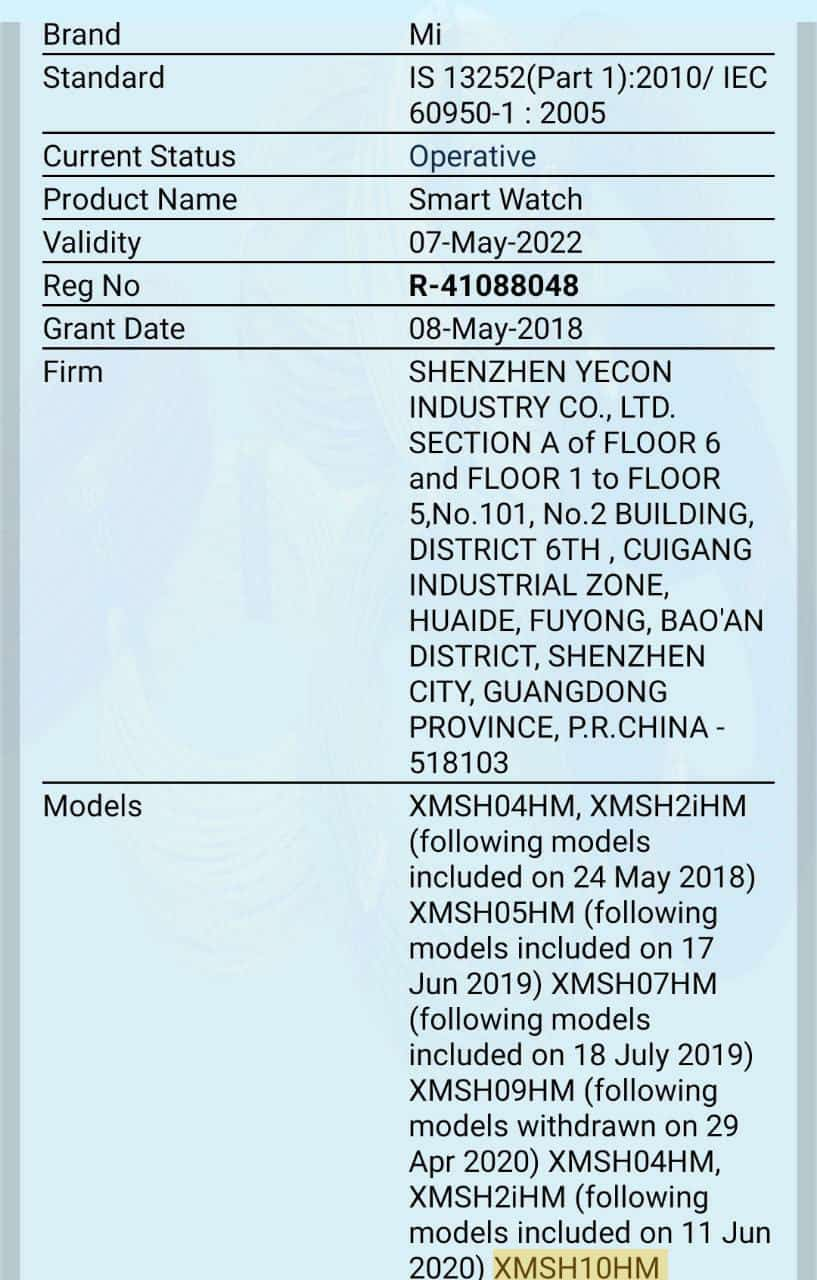 Mi Band 5 spotted on BIS certification, Indian launch seems imminent