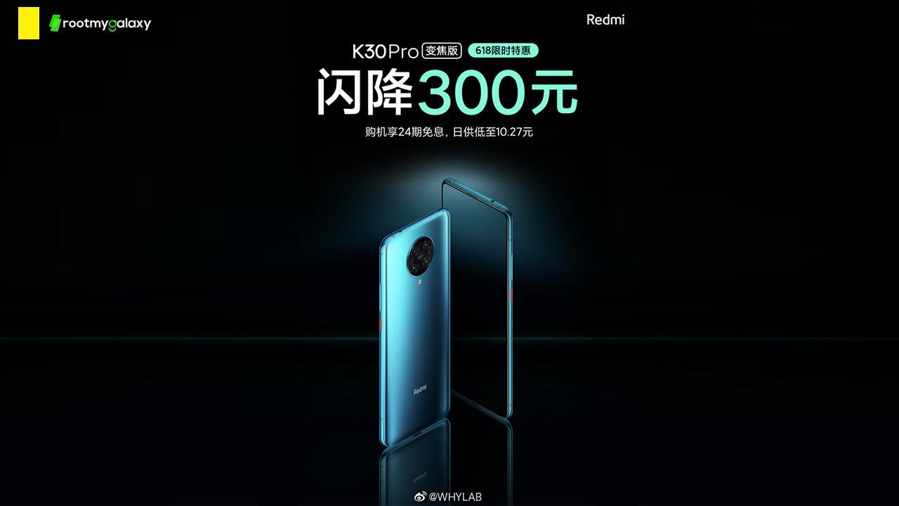 Redmi K30 PRO Zoom Editon gets 300 yuan Price Cut