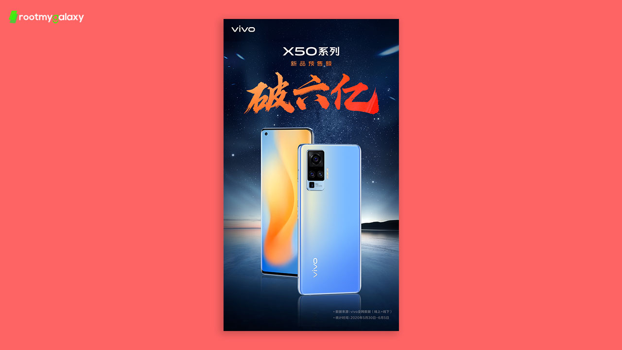 The pre-sale of Vivo X50 series exceeded 600 million yuan