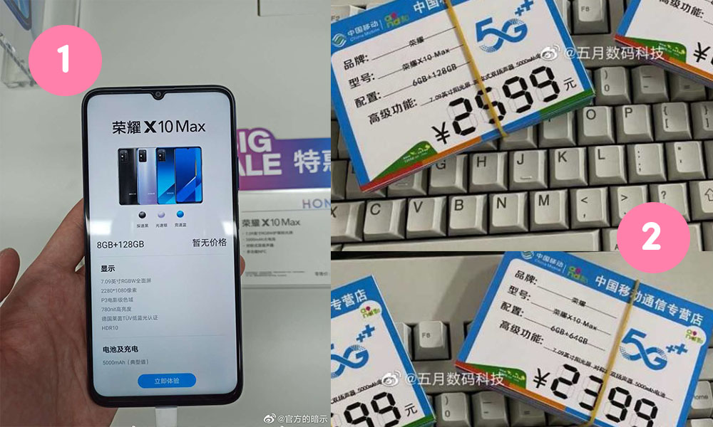 Honor X10 Max Real Life Image and Pricing Leaked ahead of its launch