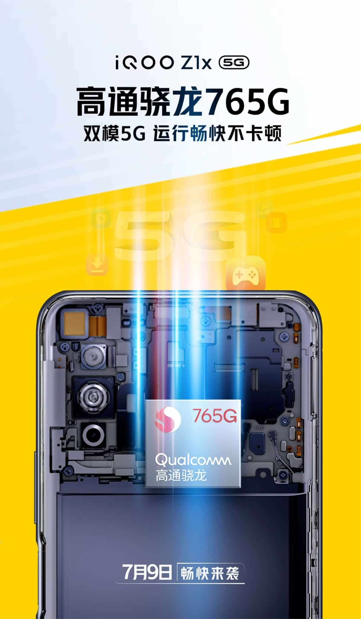 iQOO z1x 5G to have Snapdragon 765G SoC, officially confirmed