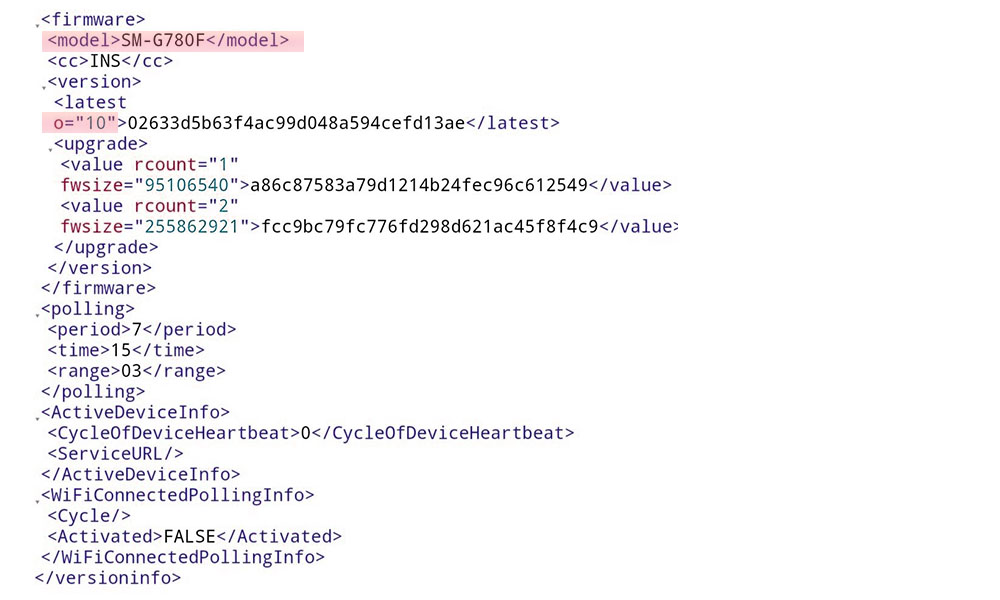Samsung Galaxy S20 Fan Edition firmware information (Indian Variant)