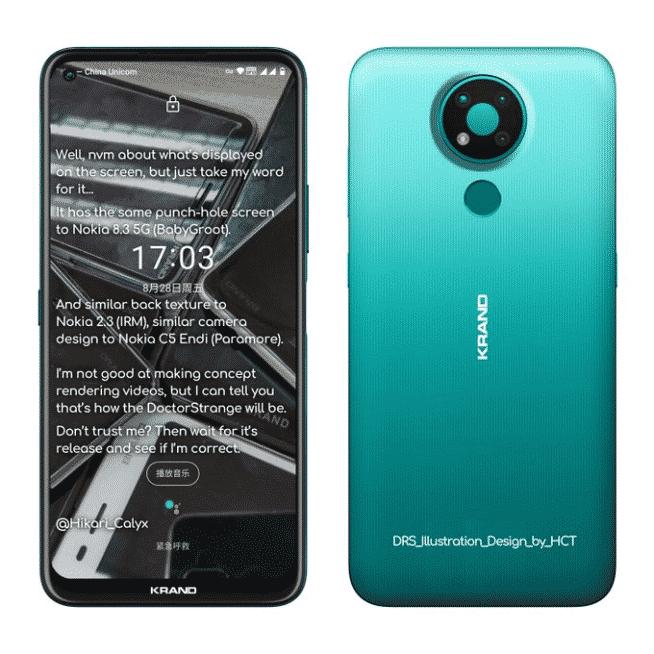 Nokia 3.4 leaked render